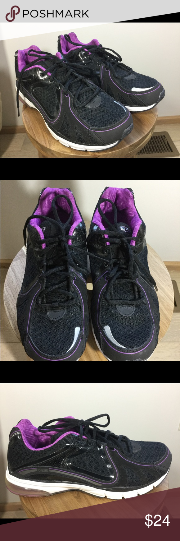 ceee7e51e05 C9 by Champion Interval Black Training Sneakers C9 by Champion Women s  Interval Black Purple Size 8.5 Training Sneakers. Condition is Pre-owned.