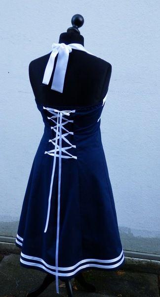 pinup kleid marine stil alinie maßanfertigung  etsy