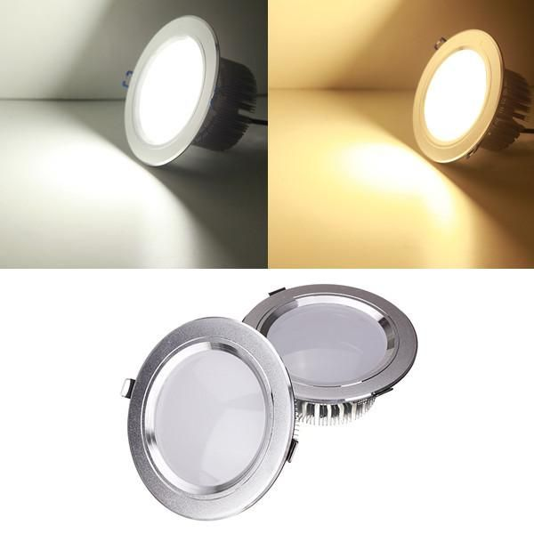 9w Led Downlight Ceiling Recessed Lamp Dimmable 220v Driver Led Down Lights Downlights