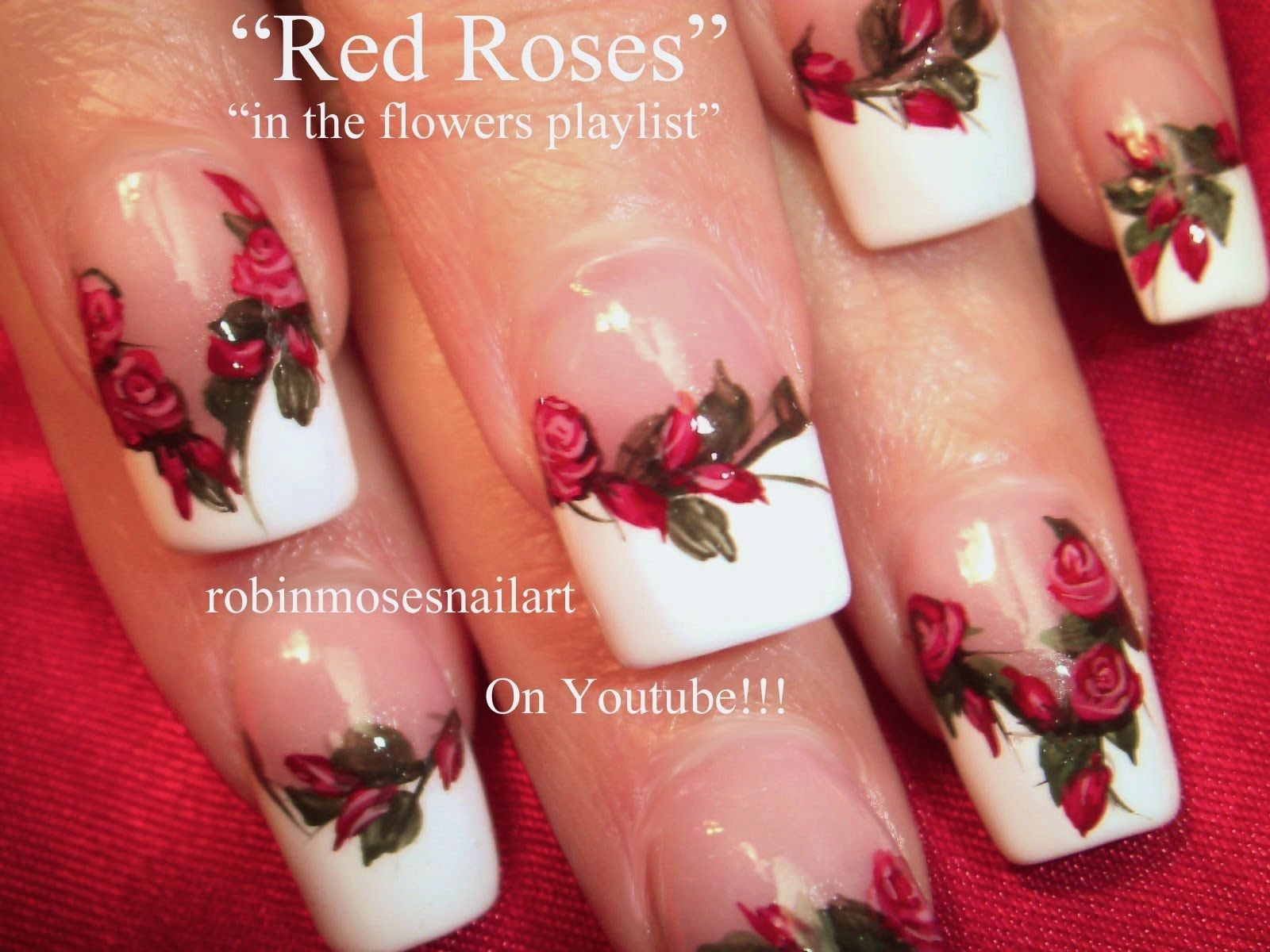 Red Rose Nail Art do the flowers the bride walks down the aisle with ...