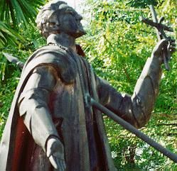 Statue of martyred missionary on Guam who helped convert the natives centuries ago
