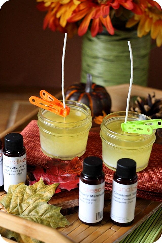 DIY Fall Scented Soy Candles Soy