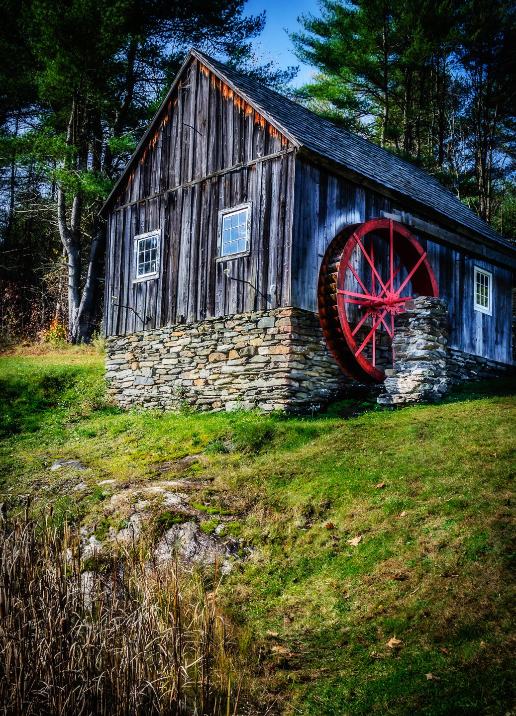 New England Fall Foliage Wallpaper Mike In 2019 Old Water Mills Old Grist Mill Water