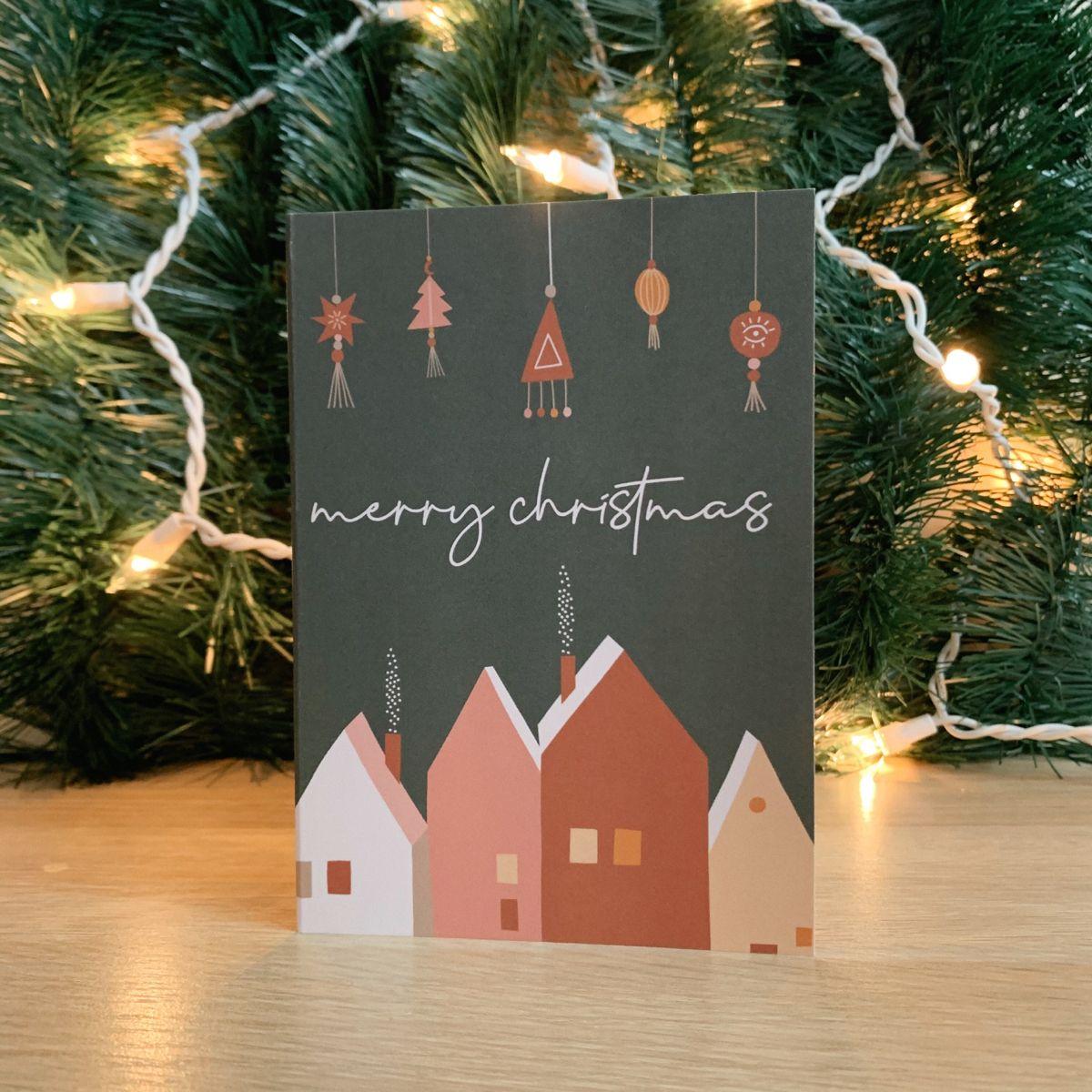 Christmas Card Set Of 3 Boho Christmas Cards Holiday Etsy Christmas Card Set Boho Christmas Cards Christmas Cards Etsy
