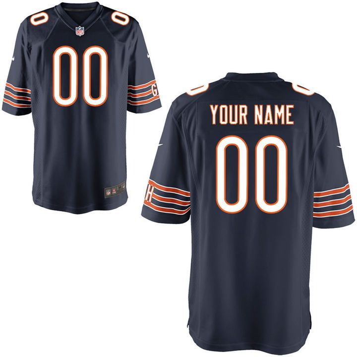 138f3fc77 Chicago Bears Nike Custom Game Jersey - Navy | IDEAS | Nfl jerseys ...