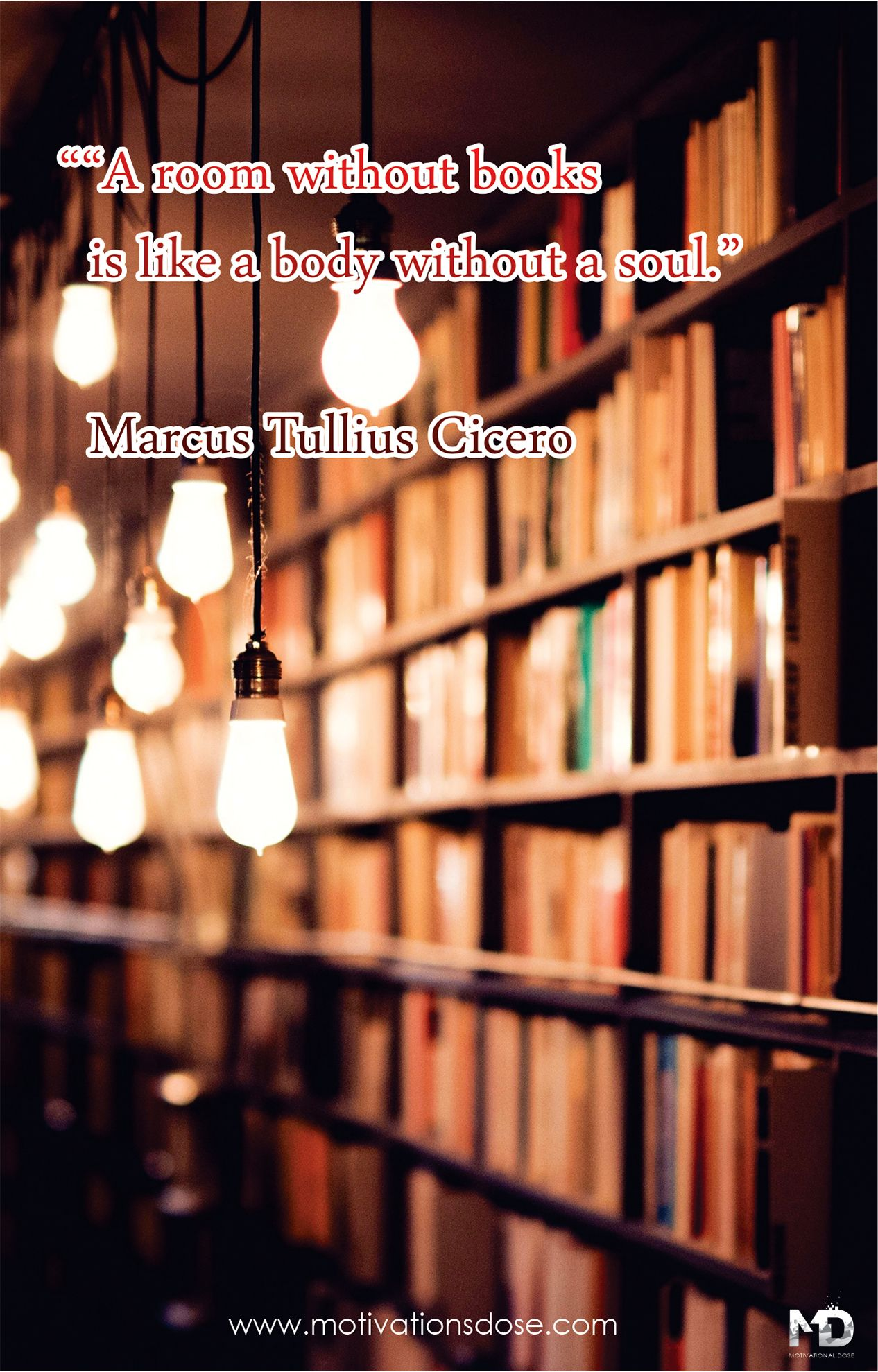 A Room Without Books Is Like A Body Without A Soul Marcus