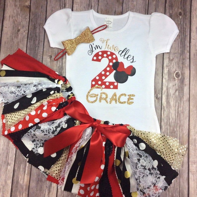 2 year old minnie mouse twodles birthday outfit in red