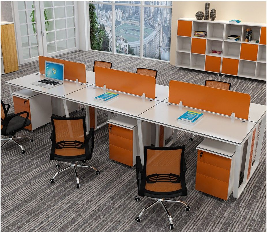 Office Table For 4 Person: Factory Wholesale Price Classic Wood Office Furniture