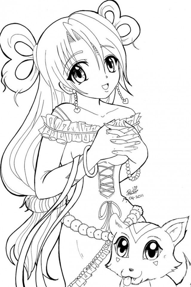 Anime Princess Coloring Pages | Coloring Pics | Pinterest | Anime ...