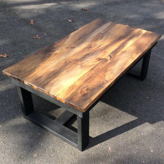 259 Rustic Coffee Table Wood Livingroom Furniture Reclaimed