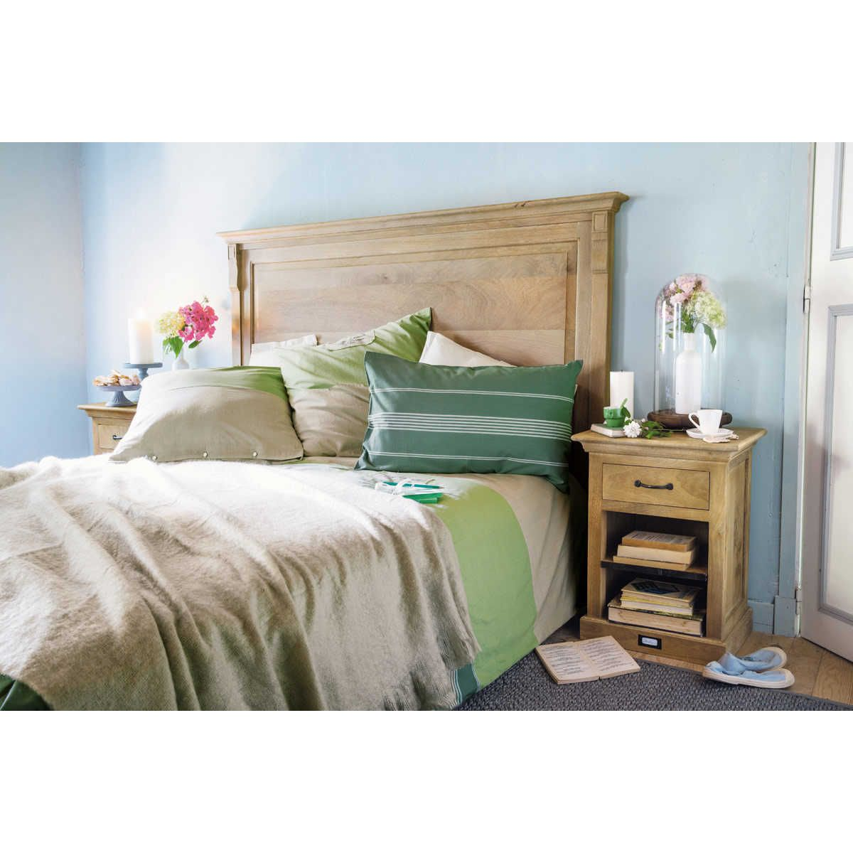 Letti, comodini e testate Wood headboard, Affordable