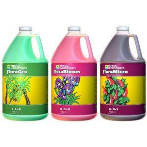 General Hydroponics Flora Series Gallon - Floragro, Florabloom, and