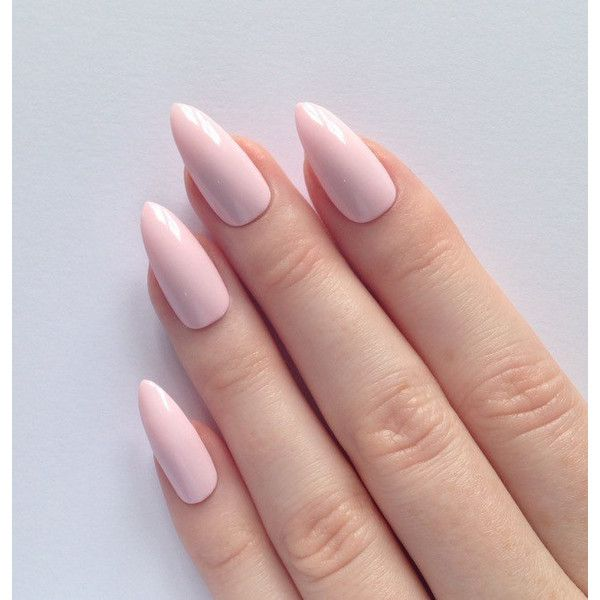 Light Pink Acrylic Nails Pointy