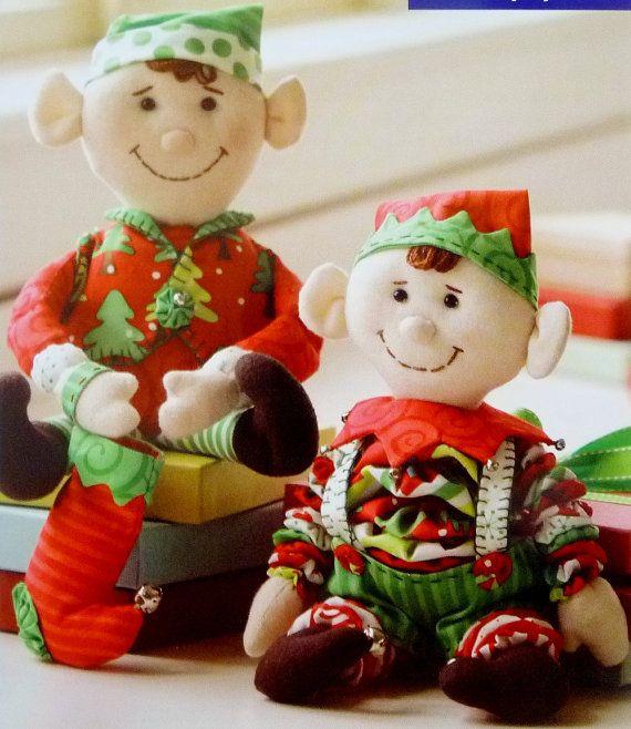 Yo Yo Stuffed Christmas Elf Sewing Pattern by Indygo Junction, 12 ...