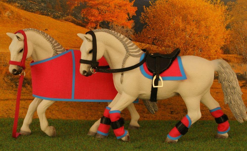 details zu sattel trense decke gamaschen halfter zubeh r passend f r schleich pferde schleich. Black Bedroom Furniture Sets. Home Design Ideas