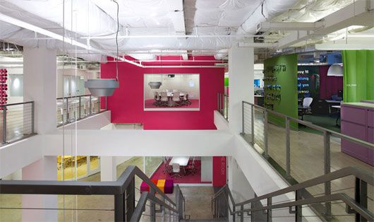 JWT – Colorful Advertising Agency Interior by Clive Wilkinson