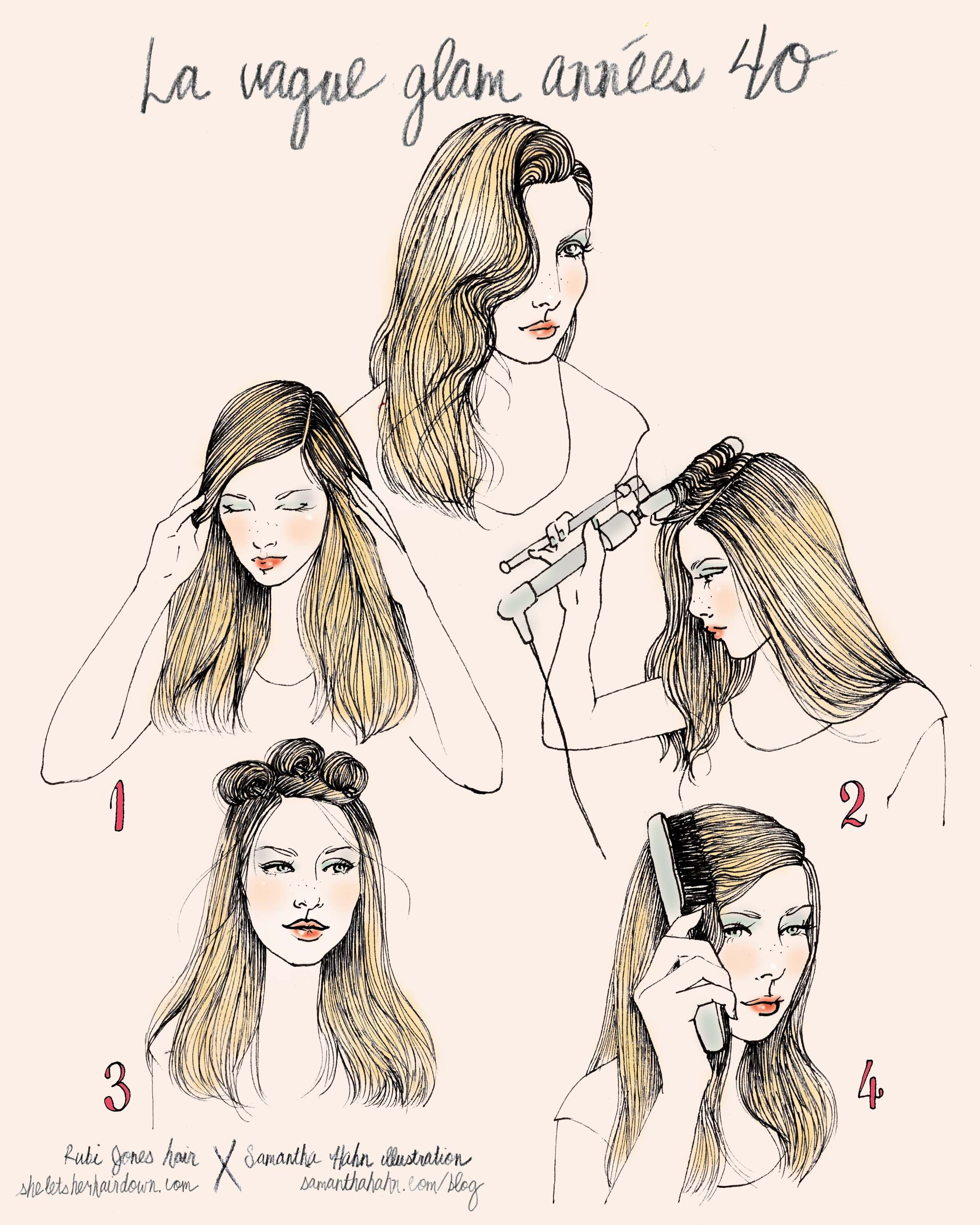 Le vague glam annees projects to try pinterest hair style