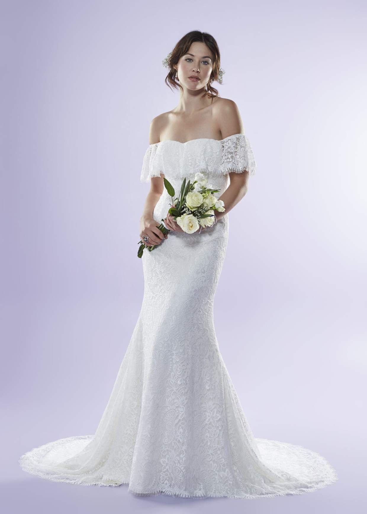 Off The Shoulder Wedding Dress Wedding Dresses Boho Wedding
