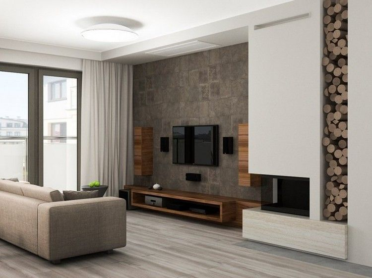 Strukturwand Wohnzimmer ~ Kamin alpina rost optik inspiration wohnzimmer