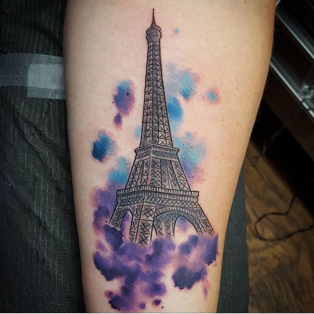 Fun Little Eiffel Tower Tattoo By Grass Art Eiffeltower Paris