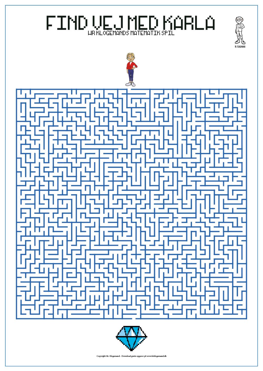 Hr Klogemands Arkade Videospil Matematik Labyrint Matematikopgaver Hr Undervisning Matematik
