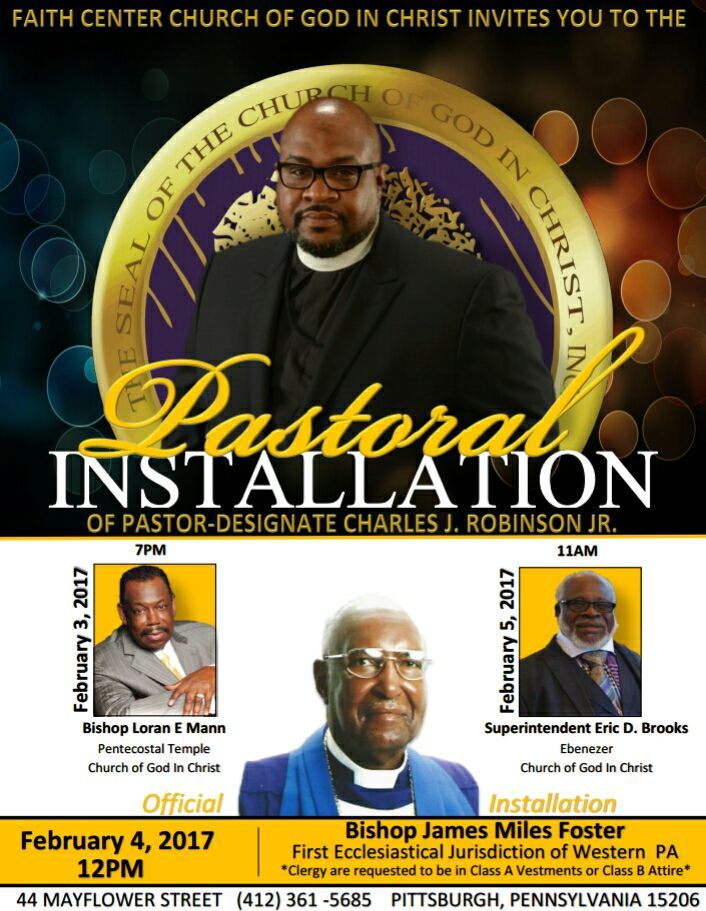 Faith Center COGIC Pastoral Installation of Pastor-Designate Charles