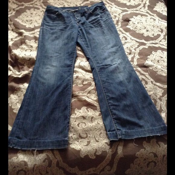 Gap Long and Lean jeans Super cute jeans from the gap. Wish they fit, too big now. Tag says 12R GAP Jeans Flare & Wide Leg
