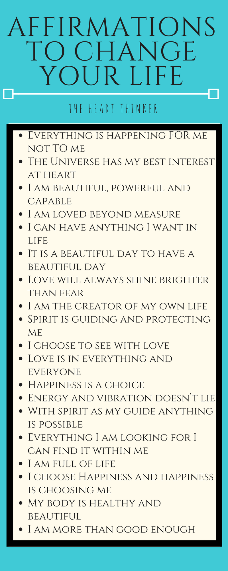 Affirmations to change your mindset and life