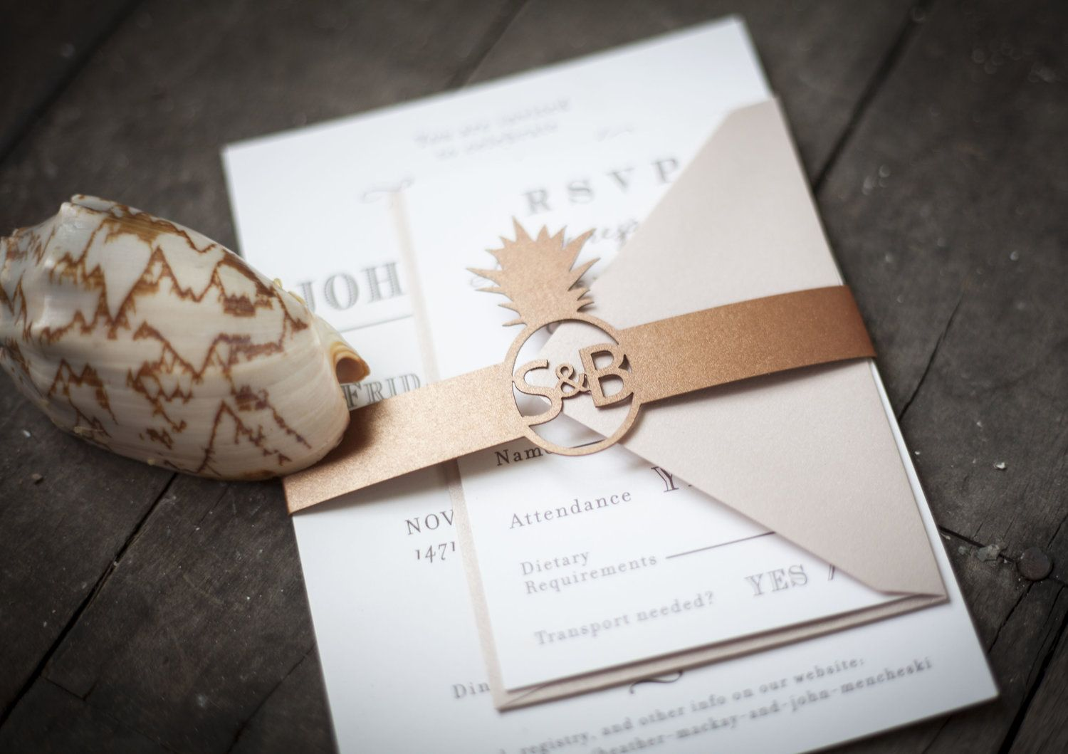 Monogrammed Pineapple Wedding Theme, perfect for a southern wedding ...