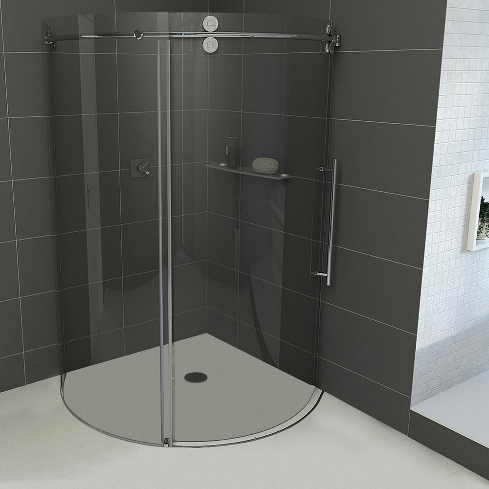 Vigo Sanibel 38 in. x 74.625 in. Frameless Bypass Round Shower ...