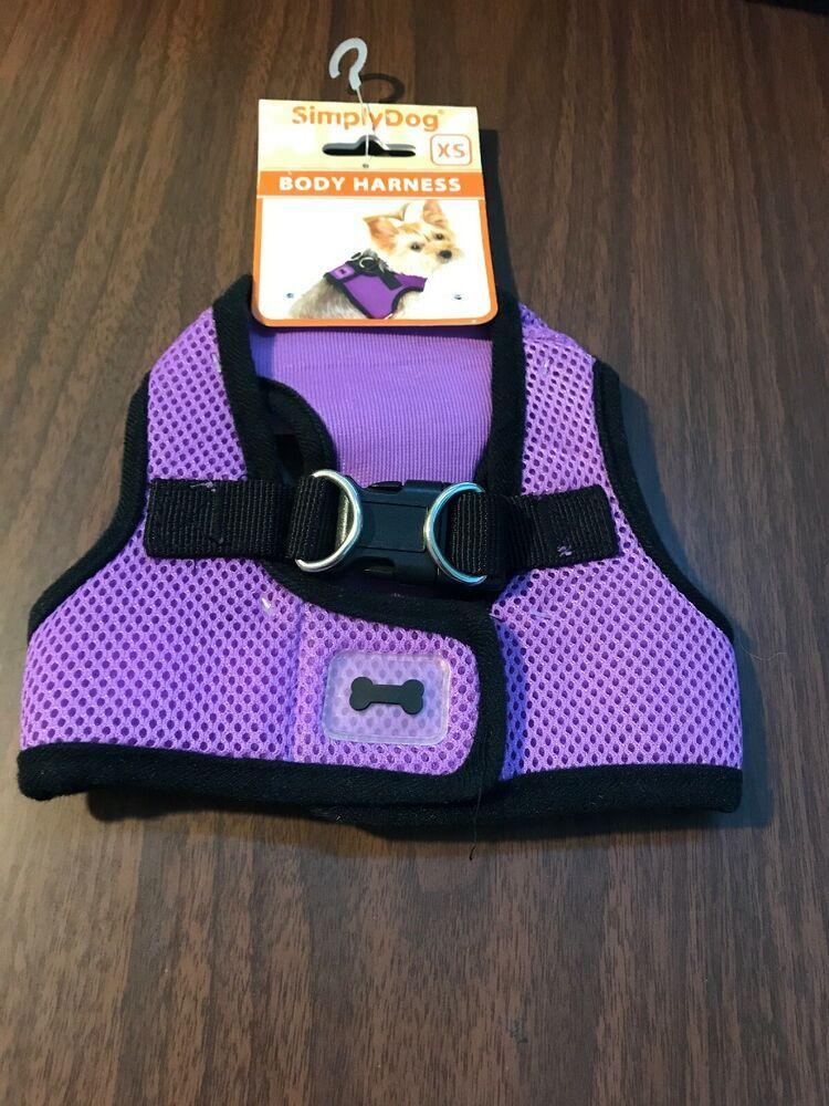 Dog Harness Size Xs Pet Puppy Apparel Clothing Purple Mesh Black