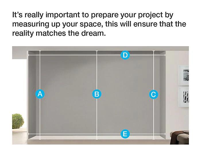 How To Measure Install Sliding Wardrobe Doors Ideas Advice Diy At B Q In 2020 Sliding Wardrobe Doors Wardrobe Doors Sliding Wardrobe