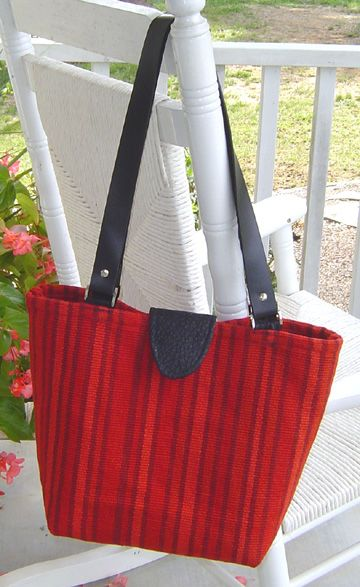 This tote was made out of a throw rug from Target! #tutorial #sewing ...