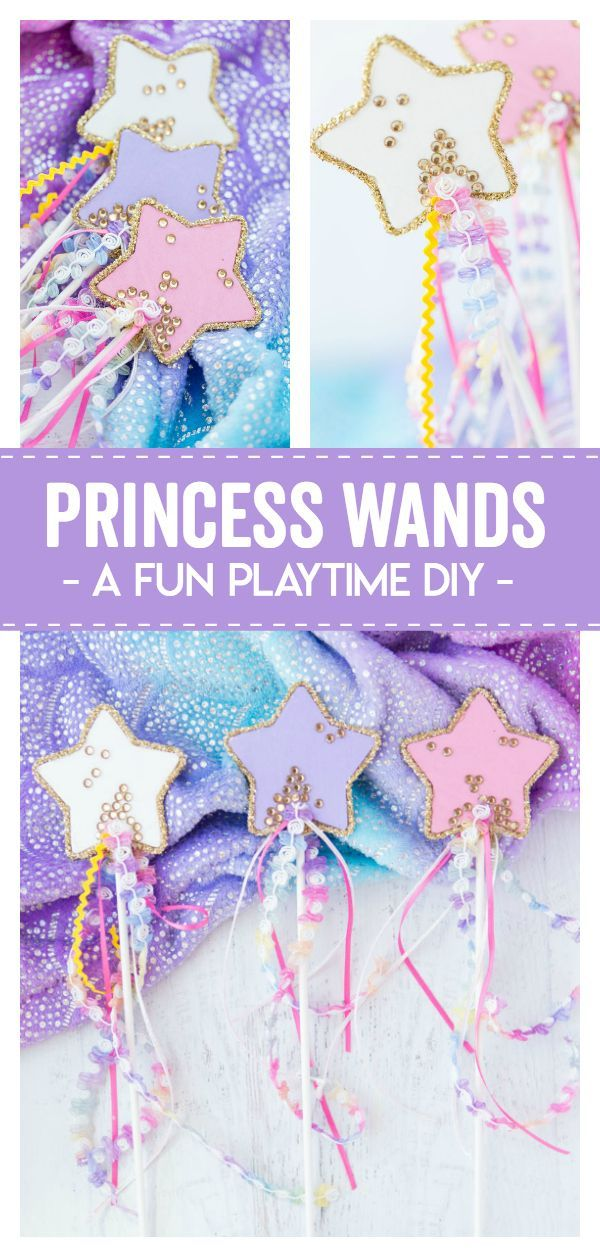 These Diy Princess Wands are a great playtime diy for any princess or fairy loving child. Colorful and also easy to personalize makes this a great gift or craft for your little ones fantasy time! #princess #diy #artandcraft #crafts #craftsforkids