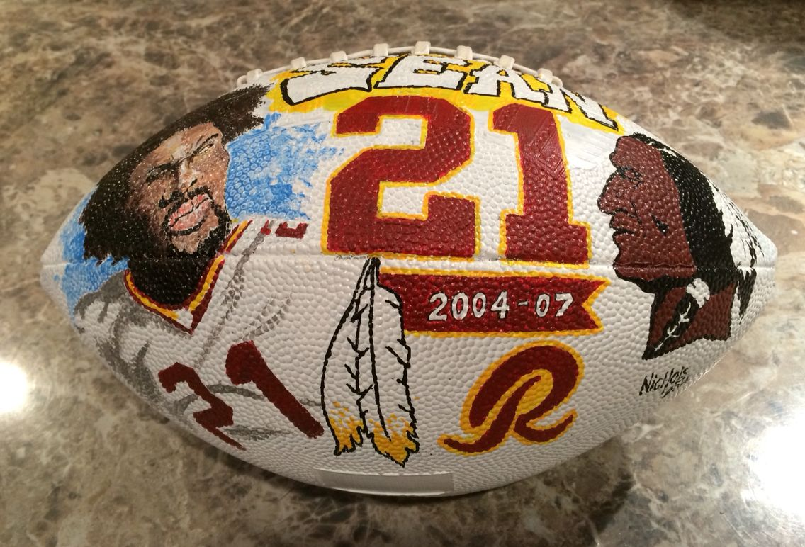 Sean Taylor hand painted football. #Redskins #HTTR