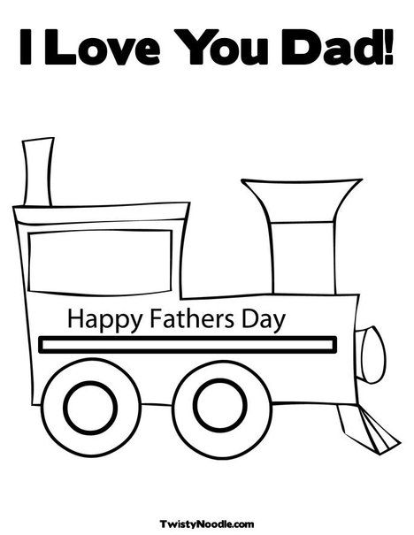 Father S Day Train Coloring Page Fathers Day Coloring Page Love You Papa I Love My Dad