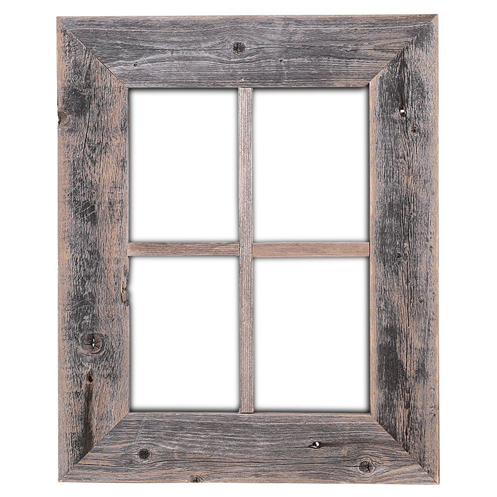 Old rustic window barnwood frames not for for Wooden windows