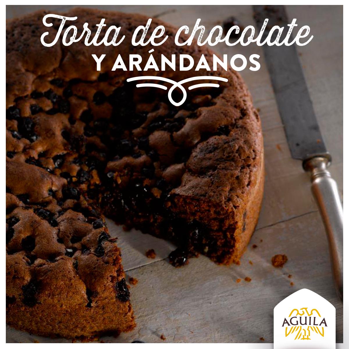 Torta de #Chocolate y Arándanos
