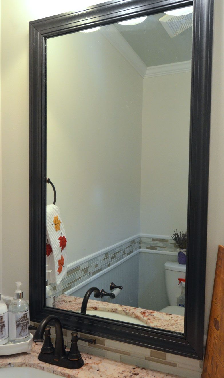How To Frame A Mirror With Clips In 5 Easy Steps Frameless Mirror Bathroom Mirrors And Diy Frame