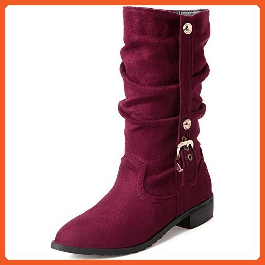 Women Autumn-Winter Suede Flat Ankle Boots Half Boots