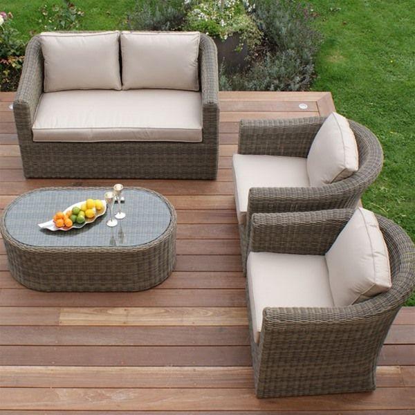 Maze Rattan Winchester Deluxe 2 Seat Sofa Set Rattan Garden