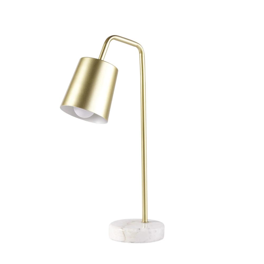Lampe De Bureau En Metal Dore Et Marbre Blanc Lampe De Bureau Bureau Metal Marbre Blanc