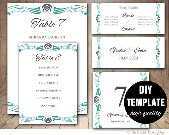 Wedding Seating Chart Template Teal Seating Chart By Paperfull - Wedding invitation templates: seating chart template wedding