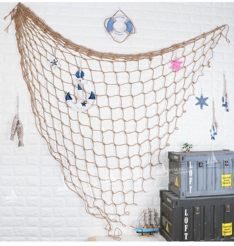 Fishing Net Hanging Decorative Fishingnet Fishing Net Wall Decor Fabric Decor Fishnet