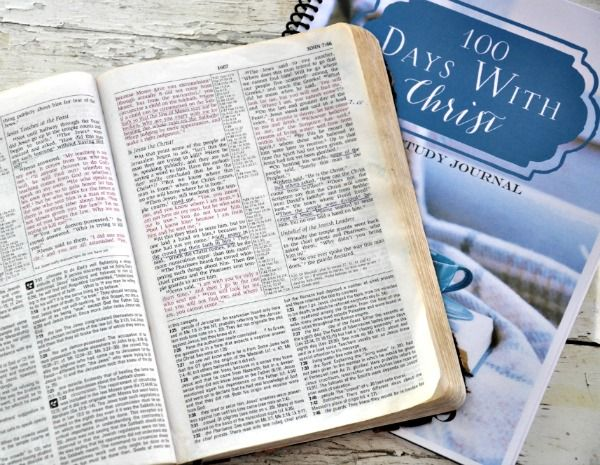 100 Days With Christ Bible Studies For Beginners Bible Study Journal Free Bible Study