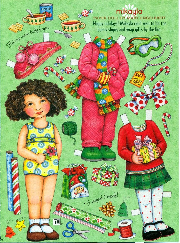 MIKAYLA paper doll from Mary Engelbreit