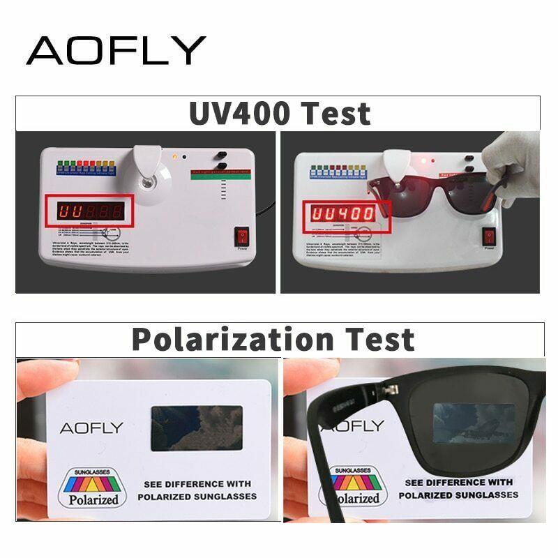 AOFLY Classic Design Polarized Men Women Sunglasses Driving Square Frame Glasses