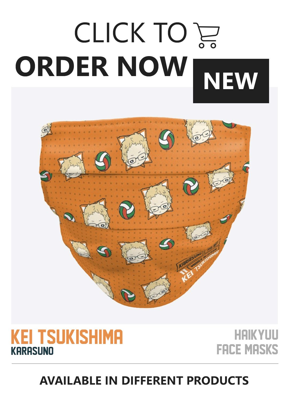 Kei Tsukishima Pattern Cloth Face Mask In 2020 Haikyuu Face Mask Mask
