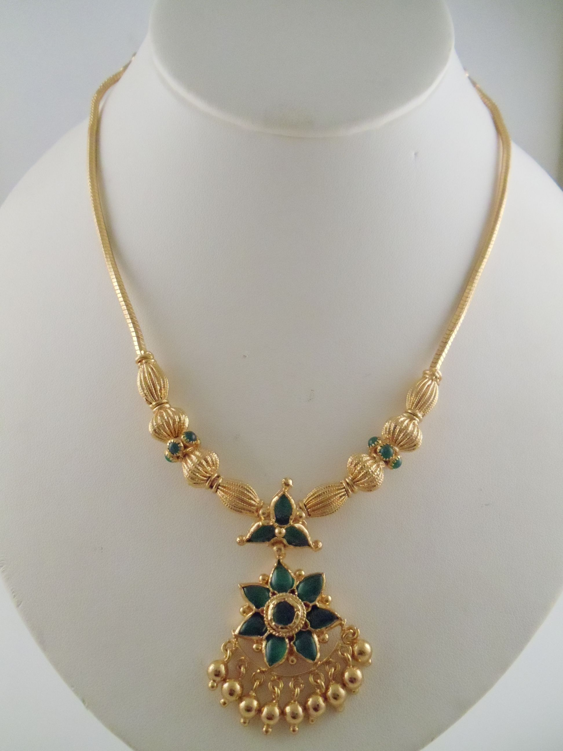 Image result for gold long necklace designs in 20 grams | pearl ...