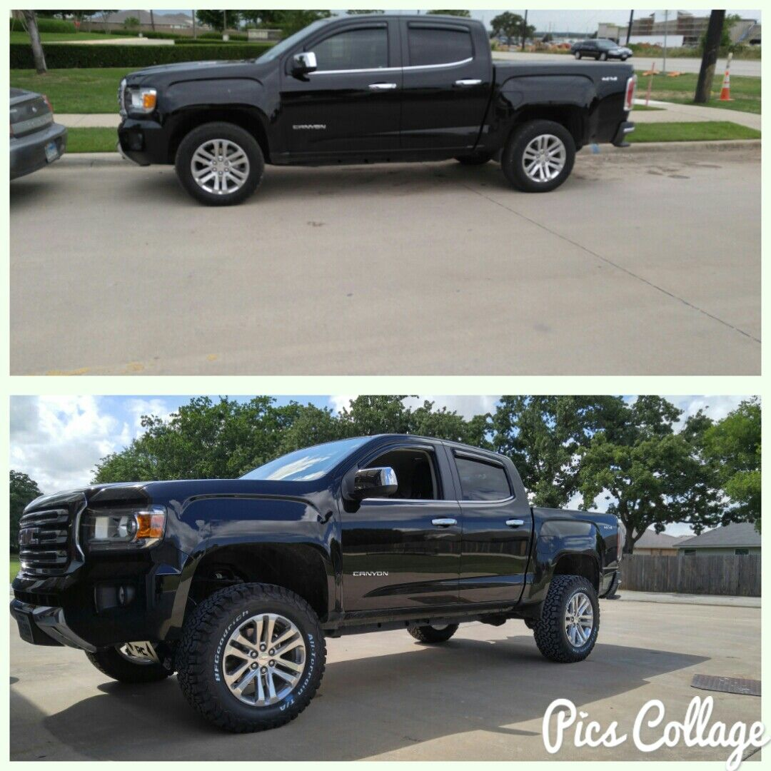 Before And After 4 Inch Rough Country And 2756518 Gmc Canyon